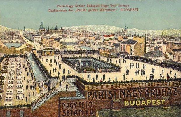 Roof Terrace of the The Párizsi Nagy Áruház