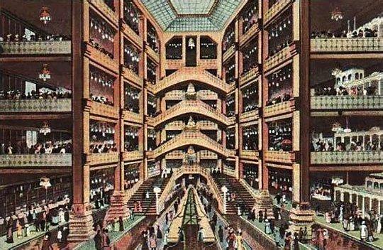 Interior Párizsi Nagy Áruház 19th century budapest