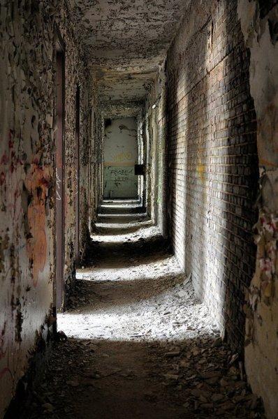 crumbling factory hallway koepenick