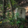 abandoned sbahn milestone friedhofsbahn stahnsdorf germany