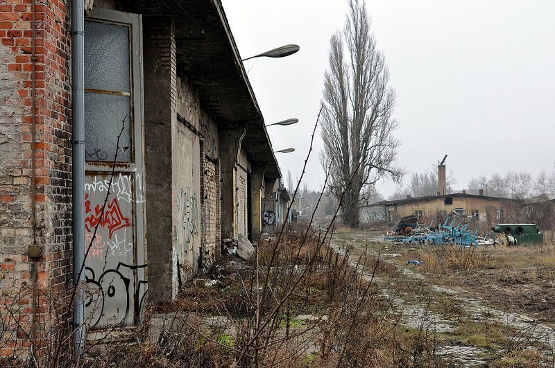 abandoned military aircraft hangars karlshorst
