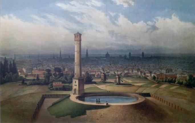 steigrohrturm berlin circa 1860
