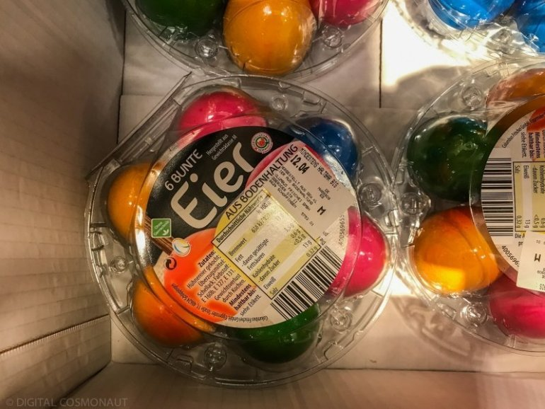 What are those coloured eggs in German supermarkets?