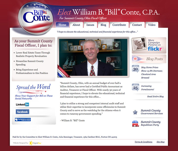 Bill Conte for Summit County, Ohio Fiscal Officer Website