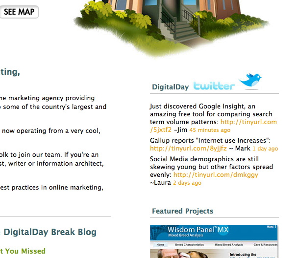 DigitalDay's Twitter Integration