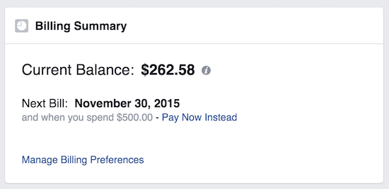 facebook payment options