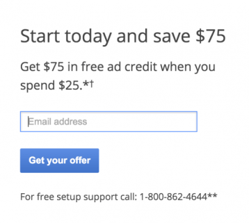 adwords promotional code