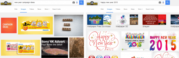 New Year Campaign ideas vs New Year 2015