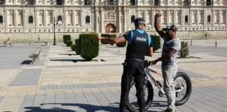 Policia control bicicletas león