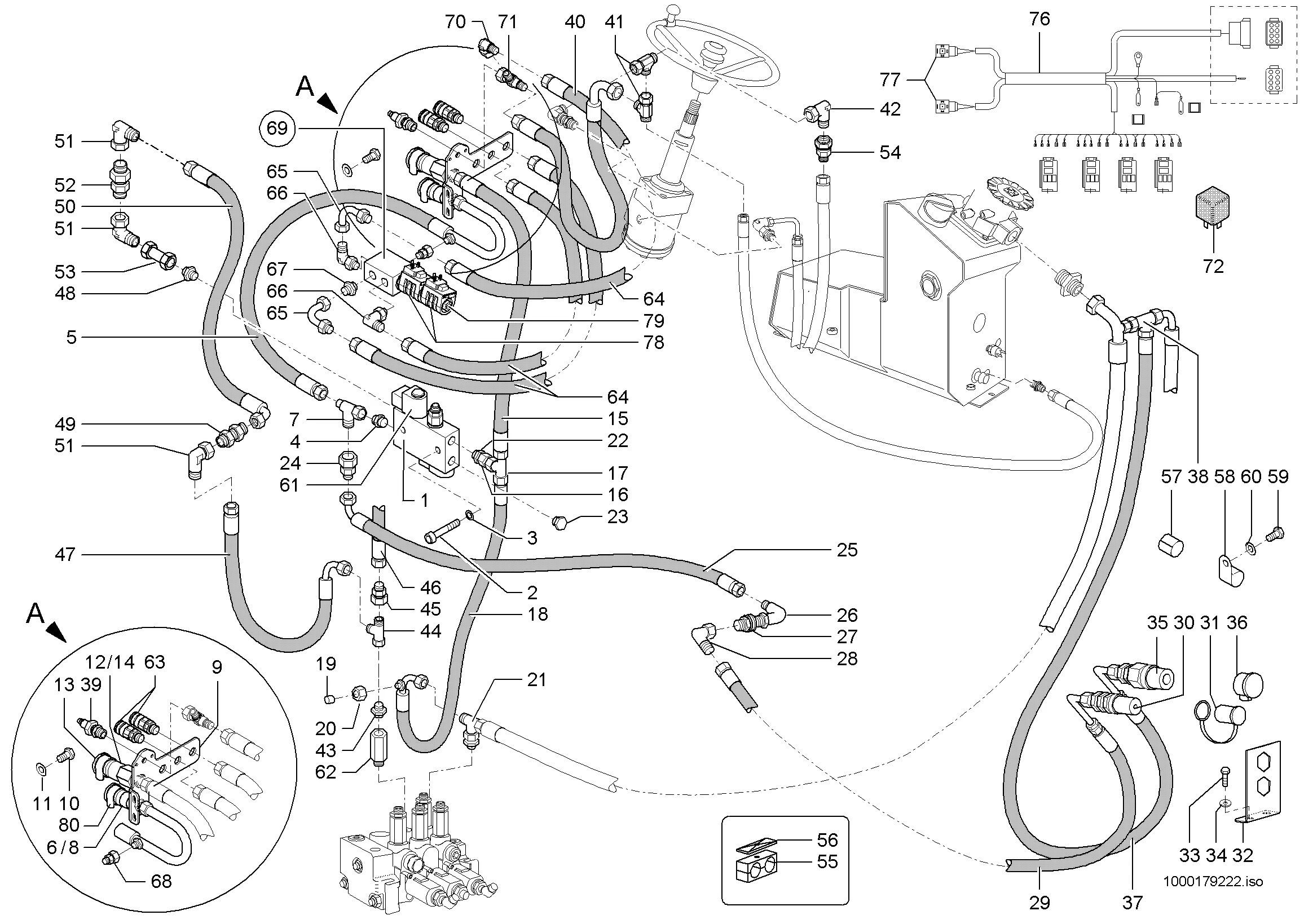 Gehl All-wheel-Steer Loader 280 918113-D Pièces Manuel