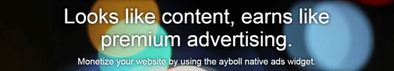 Ayboll ads in your blog