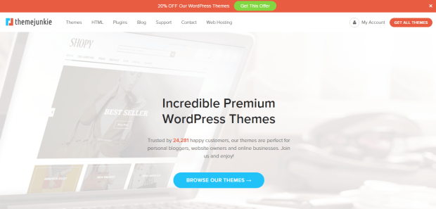 THEMEJUNKIE WORDPRESS THEME SHOP REJI STEPHENSON