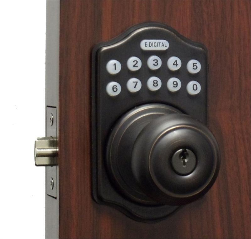Lockey E Digital Keyless Electronic Knob Door Lock Bronze