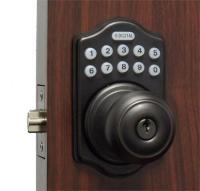 Lockey E Digital Keyless Electronic Knob Door Lock Bronze ...