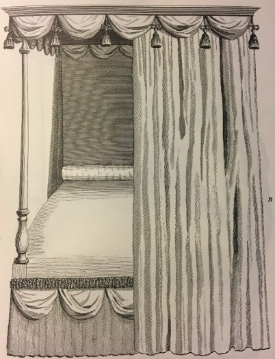 This design was used to create the bedhangings in John Payne Todd's Room at Montpelier.