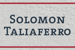 The Naming Project: Solomon Taliaferro