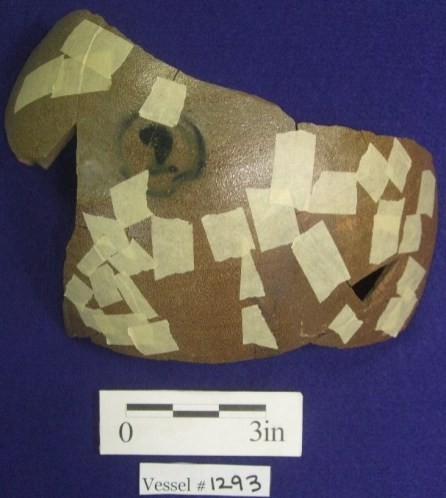 Stoneware jug fragment, exterior, South Yard.