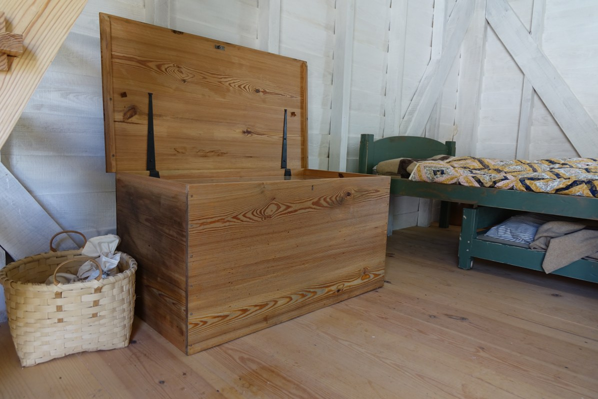 Reproduction chest made for the Taylor dwelling in the South Yard.