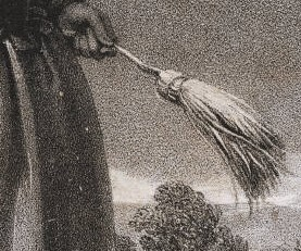 "Richard James Lane, ""Mr. Liston as a broom girl"", London J. Dickinson, 1826."