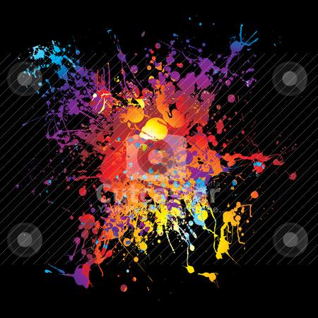 Cutcaster Vector 100318100 Gothic Grunge Rainbow Splat