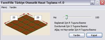 Farmville otomatik ürün toplama programı
