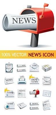 Vektörel haber ikonları