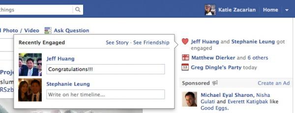 Facebook evlenenleri de hatırlayacak