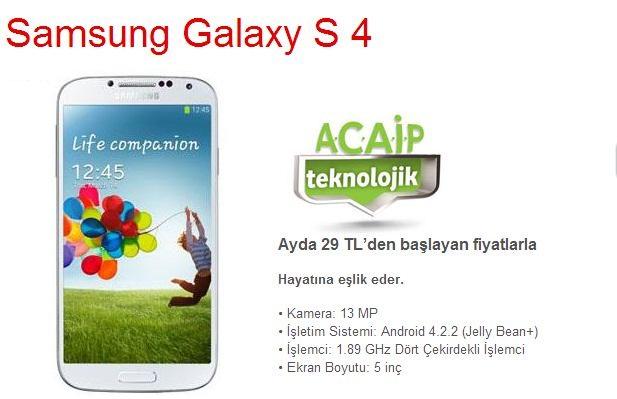 Vodafone Samsung S4 kampanyası