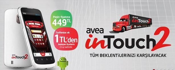 Avea tarifeye ek 1 TL'ye akıllı telefon