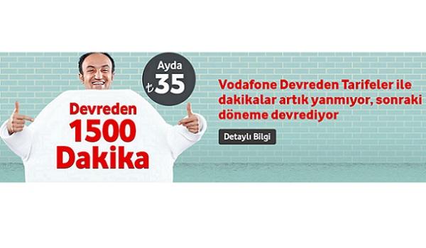 Vodafone devretmeli tarifeler