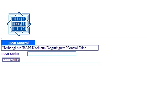 IBAN kodu kontrol sitesi