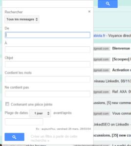Gmail Moteur de recherche