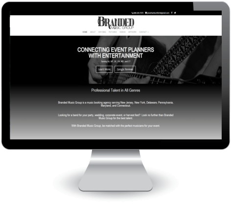 Branded Music Group - site screenshot