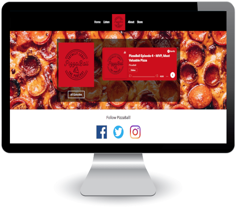 PizzaBall on computer screen
