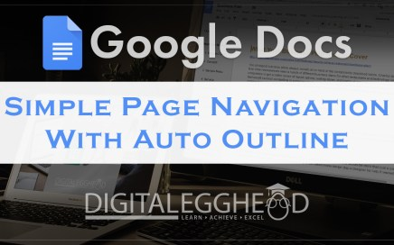 Google Docs Tips - Header - Auto Outline Tool
