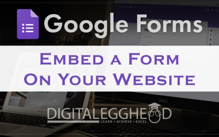 Google Forms Tips - Header - Embed Form on a Website