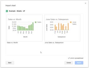 Google Slides - Adding Charts - Select Chart
