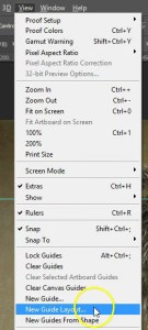 Photoshop Guide Layout - Drop Down