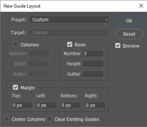 Photoshop Guide Layout Box