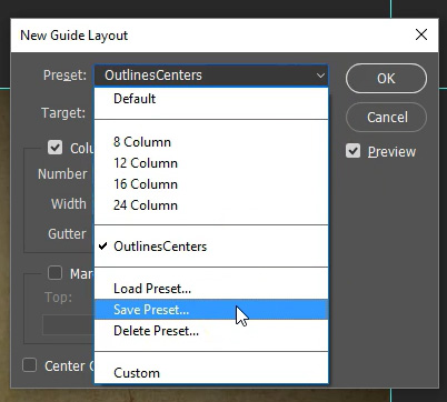 Photoshop Guide Layout - Presets