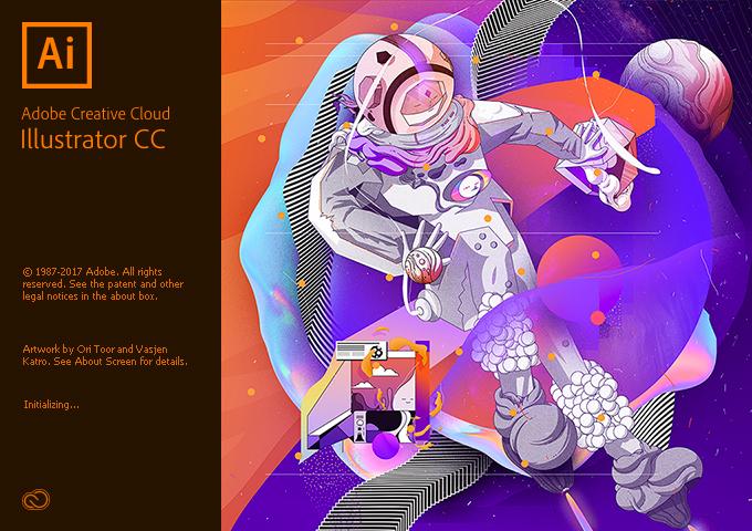 Adobe Creative Cloud- Opening Screens - AI Illustrator 208