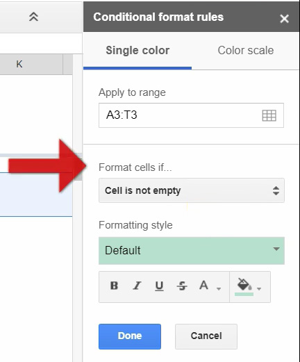 Google Sheets - Conditional Date Formatting - 03 Format If