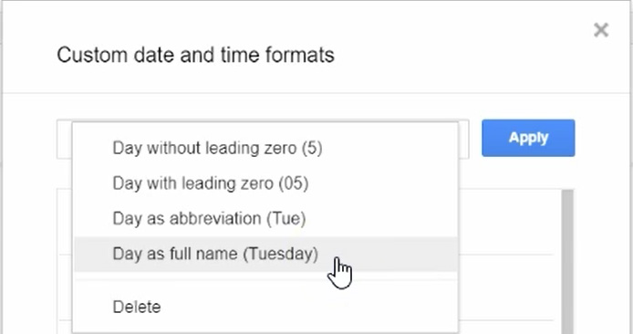 Google Sheets - Custom Date Format - 07b Change Format