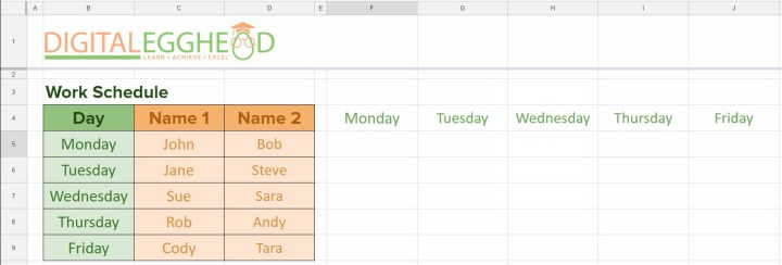 Google Sheets - Transpose 03 Completed Function