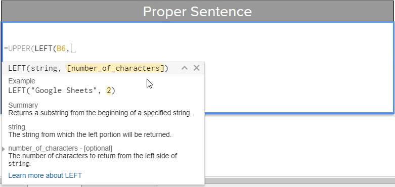 Formatting Sentences With Functions In Google Sheets - Digital Egghead