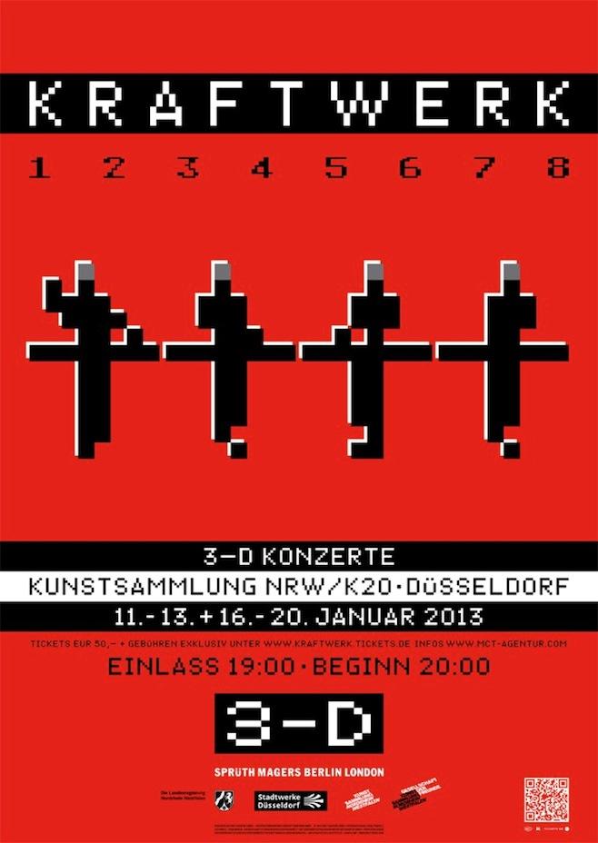 Plakat der Kraftwerk-Konzerte in Düsseldorf