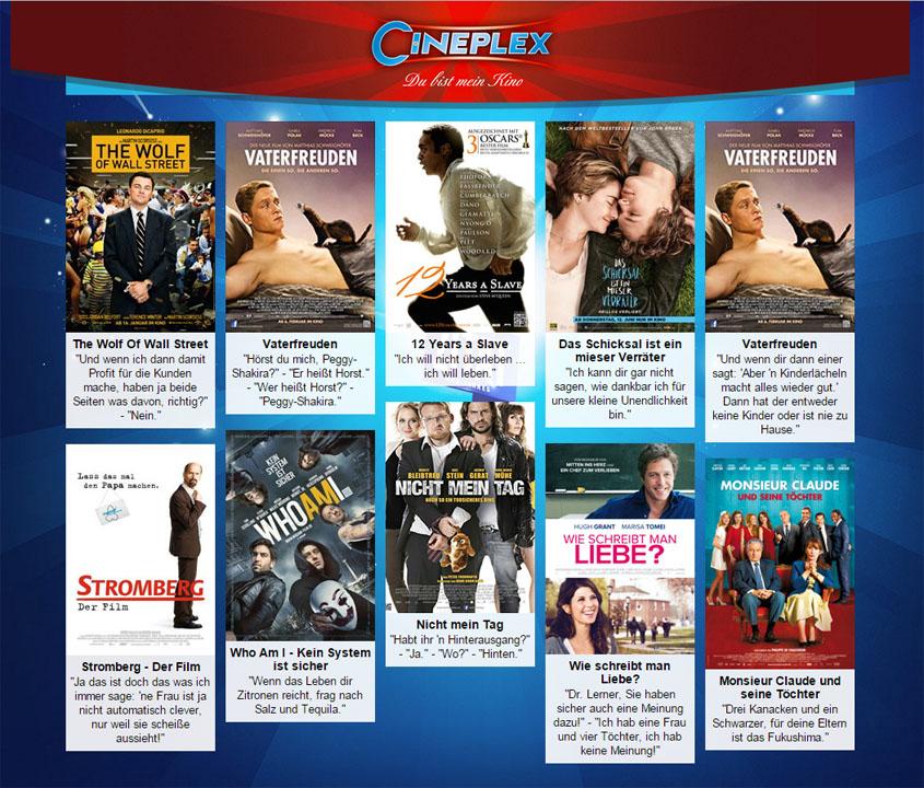 Cineplex Filmzitate 2014