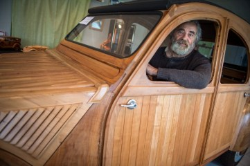 FRANCE-TRANSPORT-CRAFTS-WOOD-CAR