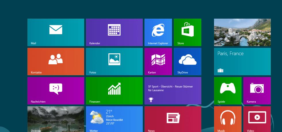 Symbolbild für Windows 8. Quelle Microsoft