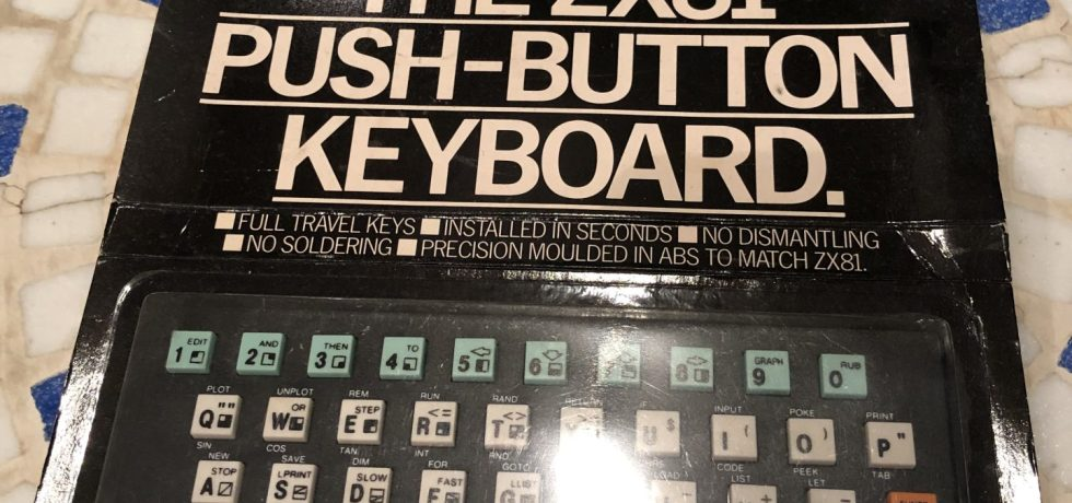 The ZX81 Push-Button Keyboard in Originalverpackung